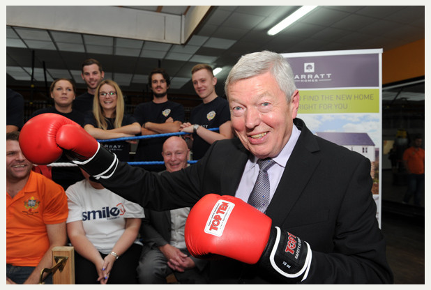 NEWS with story 15-8-14 Alan Johnson MP at the re-opening of the Kingston ABC boxing club, Hessle Road, west Hull, the cost of the work was £80,000, the work was done by the Young Guns, who are young employees from Barratt Homes. Picture: Simon Renilson **WITH VIDEO**   Prints can be ordered at www.thisisphotosales.co.uk/hullandeastriding or telephone 08444 060 910