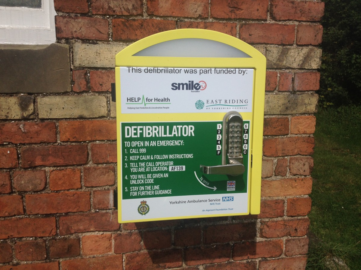 Photo of a Smile defibrillator